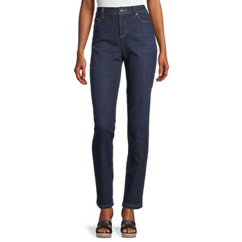 Liz Claiborne Womens Girlfriend Straight Leg Jean