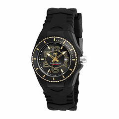 Techno Marine Womens Black Strap Watch-Tm-115131