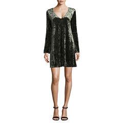 a.n.a Bell Sleeve Velvet Dress