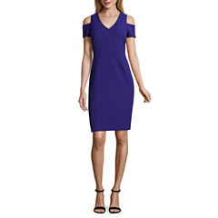 Worthington Short Sleeve Sheath Dress