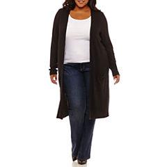 Boutique + Long Sleeve Cardigan Plus