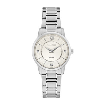 Caravelle Designed By Bulova Womens Silver Tone Stainless Steel Bracelet Watch - 43p111