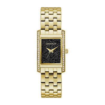 Caravelle Designed By Bulova Womens Gold Tone Stainless Steel Bracelet Watch - 44l253