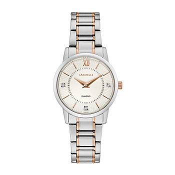 Caravelle Designed By Bulova Womens Two Tone Stainless Steel Bracelet Watch - 45p110
