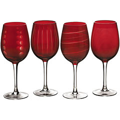 Mikasa® Cheers Ruby Set of 4 Wine Glasses