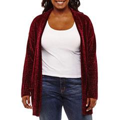 Arizona Long Sleeve Soft Cardigan-Juniors Plus
