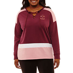 Flirtitude Long Sleeve Sweatshirt-Juniors Plus