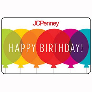 balloon birthday gift card