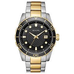 Bulova Mens Two Tone Strap Watch-98a199