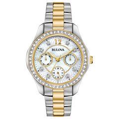 Bulova Womens Two Tone Strap Watch-98n114