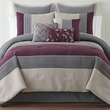 Purple Comforters & Bedding Sets for Bed & Bath - JCPenney : purple quilt sets - Adamdwight.com