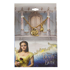 Disney Womens Beauty and the Beast Pendant Necklace