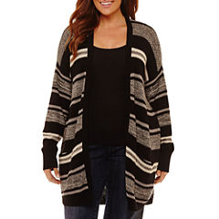 St. John's Bay Open Front Cardigan with Pockets-Plus