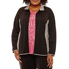 St. John's Bay Active® Mesh Track Jacket-Plus