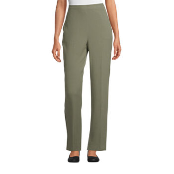 Alfred Dunner Palo Alto Womens Straight Flat Front Pant
