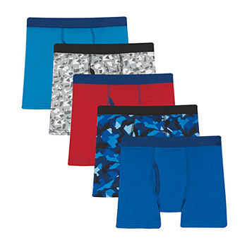 Hanes Little & Big Boys 5 Pack Boxer Briefs