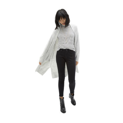 Carpe Denim A.N.A. Ribbed Turtleneck with Cozy Duster and Black Skinny Jean