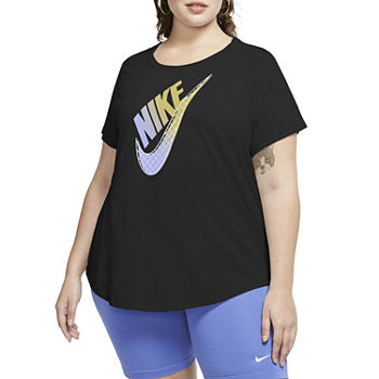 Nike Womens Round Neck Short Sleeve T-Shirt Plus