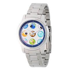 Disney Finding Nemo Womens Silver Tone Bracelet Watch-Wds000354