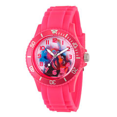 Disney The Muppets Womens Pink Strap Watch-Wds000360