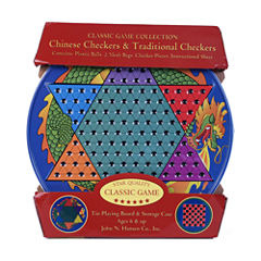 John N. Hansen Co. Chinese Checkers & TraditionalCheckers Tin