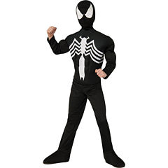Black SpiderMan Muscle Chest Child Costume