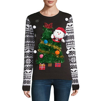 christmas sweaters ugly tacky xmas sweaters jcpenney. Black Bedroom Furniture Sets. Home Design Ideas