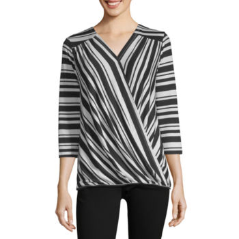 Misses Size Wrap Shirts Tops For Women Jcpenney
