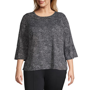 f9ad16d278354 Plus Size Blouses Tops for Women - JCPenney