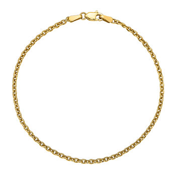 14K Gold 9 Inch Solid Cable Ankle Bracelet