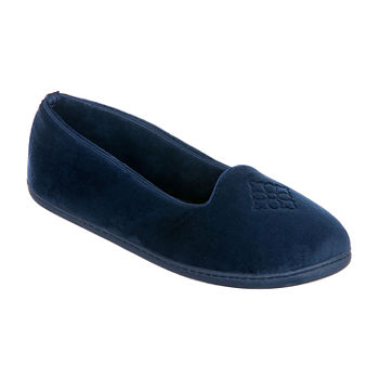 Dearfoams Velour  Closed Back Slip-On Slippers