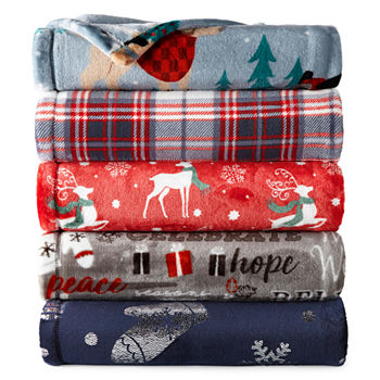 Christmas Blankets.Christmas Blankets Throws For Bed Bath Jcpenney