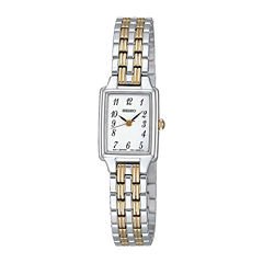 Seiko® Womens Two-Tone Stainless Steel Bracelet Watch SXGL61
