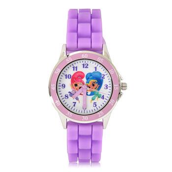 1fc8d908efff0 Shimmer And Shine Girls Purple Strap Watch-Sns9007jc