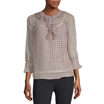 af9d351a0e11c1 Houndstooth Tops for Women - JCPenney