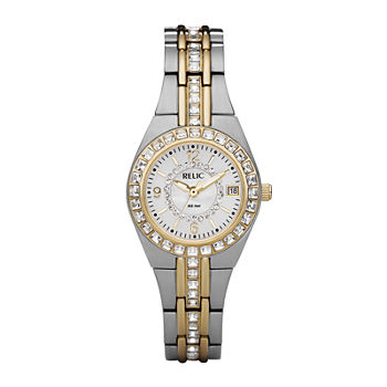 Relic By Fossil Relic Womens Two Tone Bracelet Watch - Zr11775
