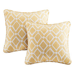 Madison Park Ella Printed Square Throw Pillow Pair