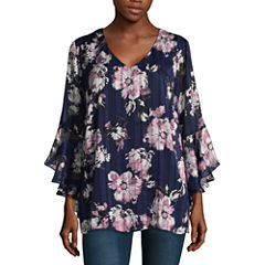 Alyx 3/4 Sleeve Chiffon Floral Blouse