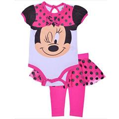 2-pc. Minnie Mouse Bodysuit Set-Newborn Girls