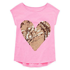 Total Girl Short Sleeve Sequin Graphic Tee - Girls' 7-16 and Plus