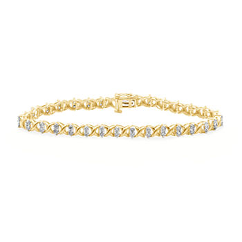 2 CT. T.W. Genuine Diamond 10K Yellow Gold Bracelet