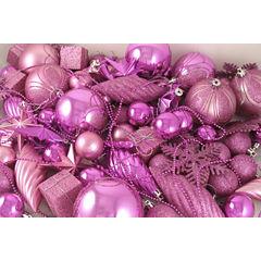 125 Piece Club Pack Of Shatterproof Bubblegum PinkOrnaments