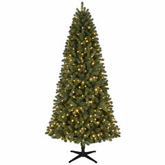 North Pole Trading Co. 7 1/2 Foot Green Grand Quick Set Pre-Lit Christmas Tree