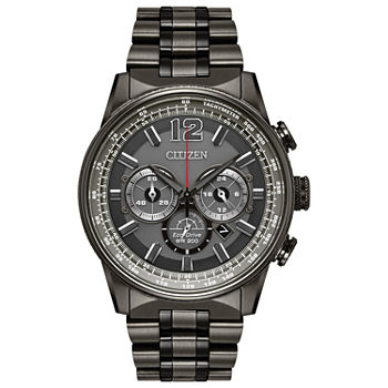 Citizen Nighthawk Mens Gray Stainless Steel Bracelet Watch - Ca4377-53h
