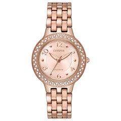 Citizen Womens Pink Bracelet Watch-Fe2083-58q