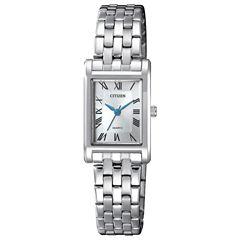Citizen Quartz Womens Silver Tone Bracelet Watch-Ej6120-54a