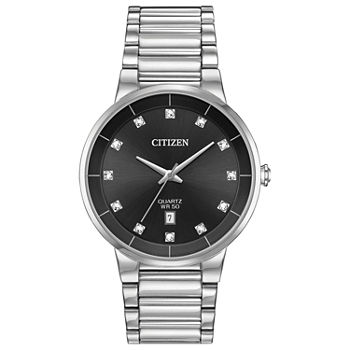Citizen Quartz Mens Silver Tone Stainless Steel Bracelet Watch - Bi5010-59g