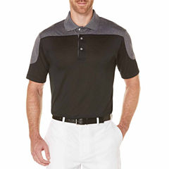 PGA TOUR Easy Care Short Sleeve Jersey Polo Shirt