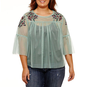 Juniors Plus Size Babydoll Tops Tops For Women Jcpenney