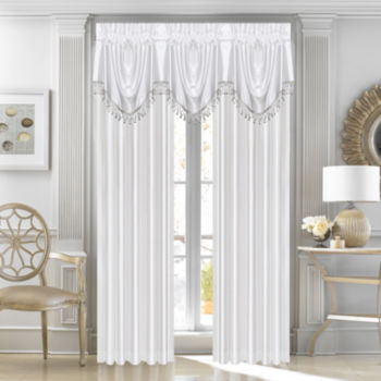 Satin White Curtains Drapes For Window Jcpenney